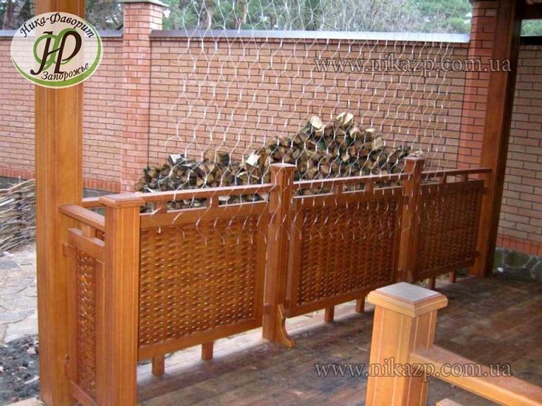 Декоративный заборчик из натурального дерева