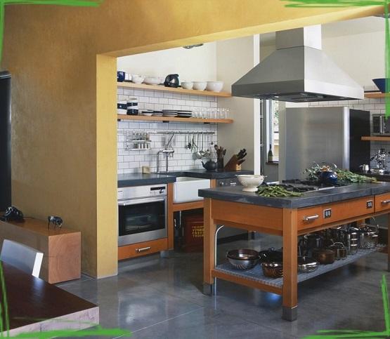 Кухни на заказ открытого типа