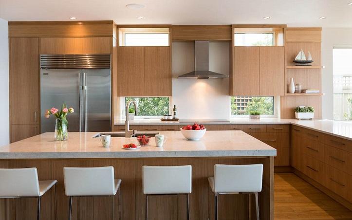 современная кухня с деревом
